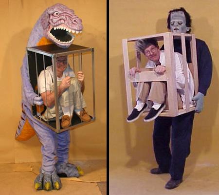 disfraz disfraces halloween divertidos hombre enjaulado