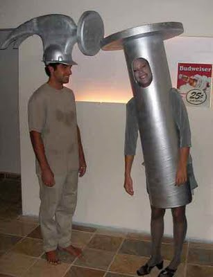 disfraz disfraces halloween divertidos martillo clavo