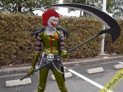disfraz disfraces halloween divertidos ronald macdonal muerte