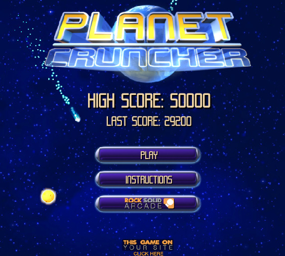 game juego planet cruncher
