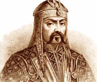 gengis khan kan ilustracion dibujo retrato