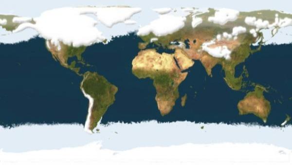glaciacion mapa glaciaciones