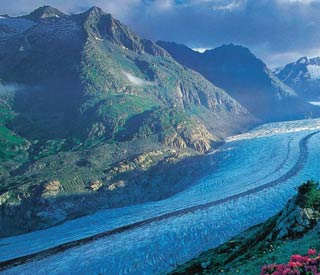 glaciar suizo suiza aletsch