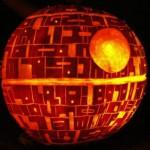 Calabaza para Halloween inspirada en la Estrella de la Muerte