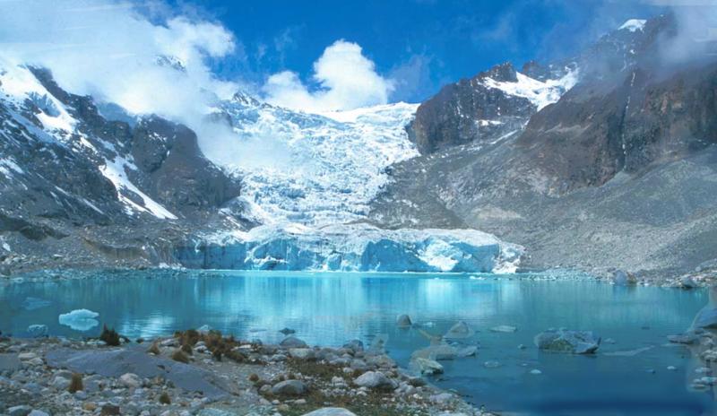 laguna glaciar bolivia sorata