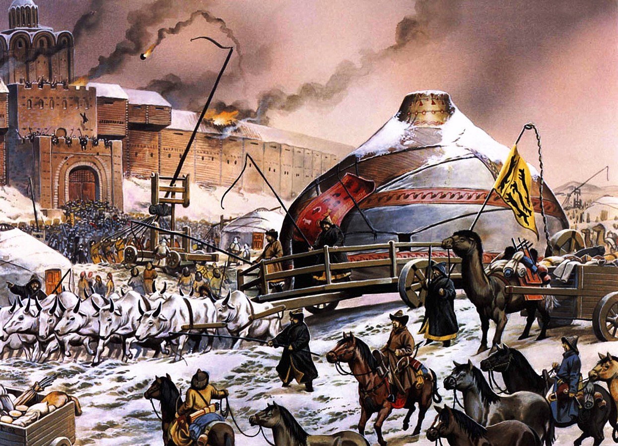 mongoles gengis kan khan carro combate guerra
