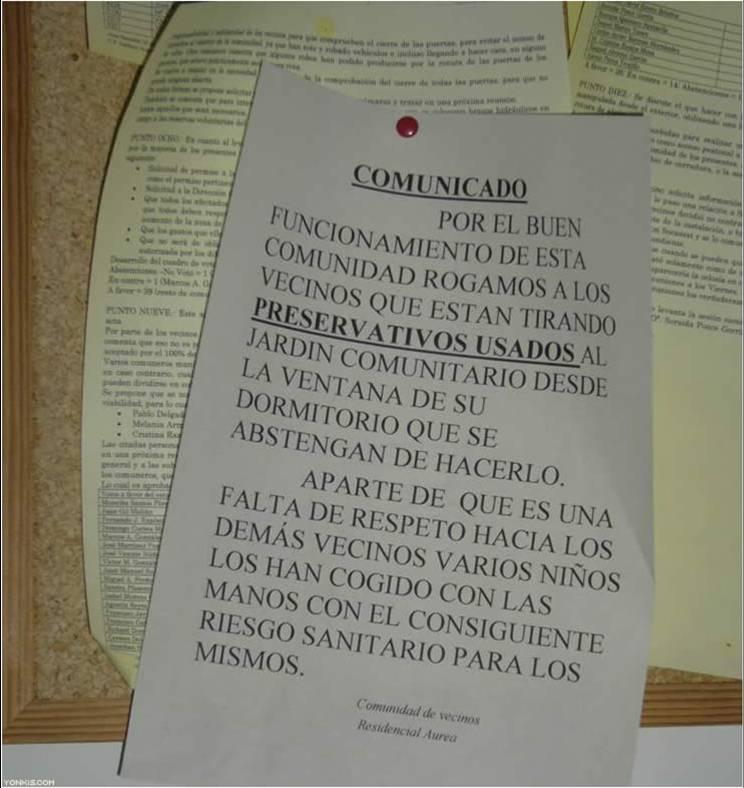notas carteles comunidad vecinos 4