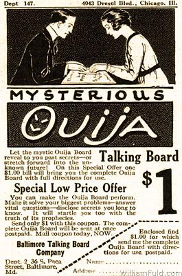 ouija anuncio venta 1920