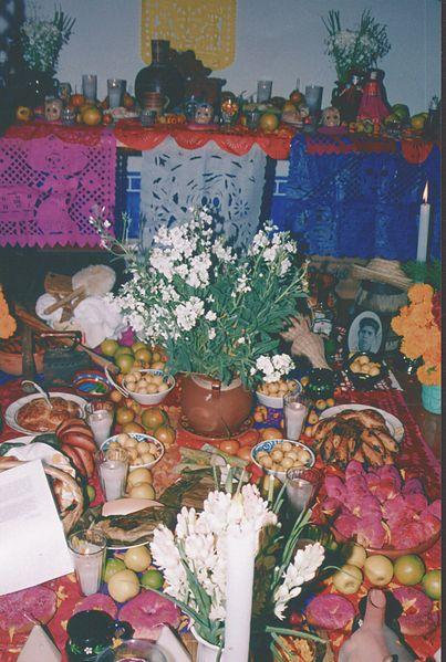 Ofrenda mixteca poblana dia muertos