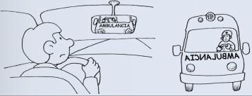ambulancias reves letrero letras espejo