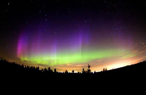 aurora boreal magnetismo viento solar