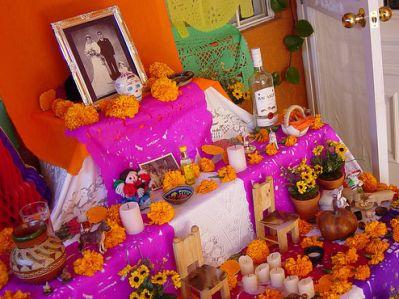 dia muertos mexico altar fotografia retrato