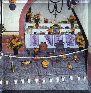 dia muertos mexico cruz ceniza