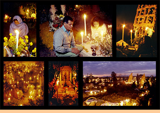 dia muertos mexico orando rezando rezos noche