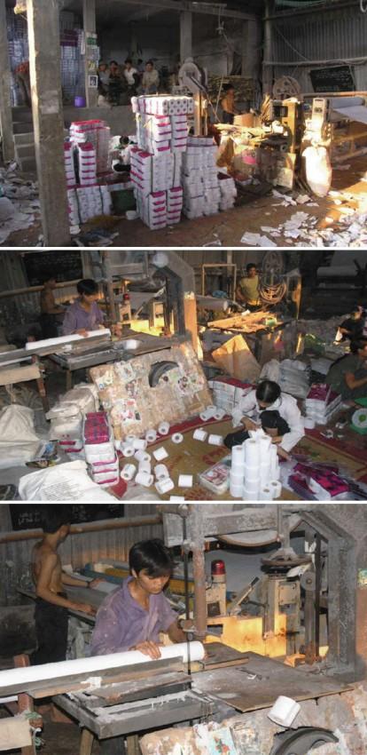 fabricas china trabajadores chinos papel higienico