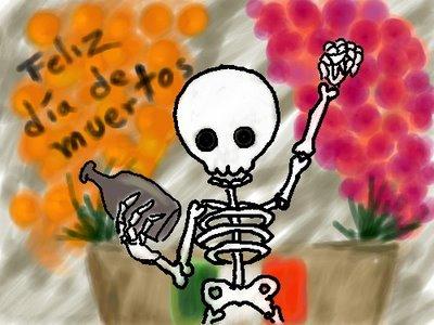 feliz dia de los muertos mexicano