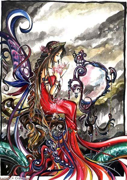 ilustraciones imagenes pin up femeninas goticas misticas 0