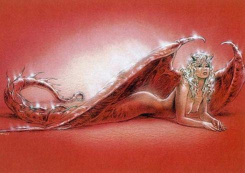ilustraciones imagenes pin up femeninas goticas misticas 9