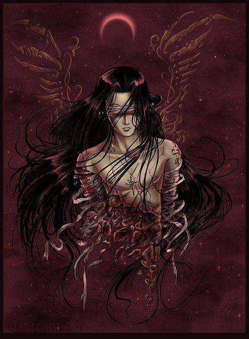 ilustraciones imagenes pin up femeninas goticas misticas dark