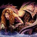 Ilustraciones e imágenes pin up femeninas góticas y místicas 4