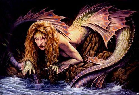 ilustraciones imagenes pin up femeninas goticas misticas sirena