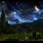 La noche estrellada de Van Gogh se torna real