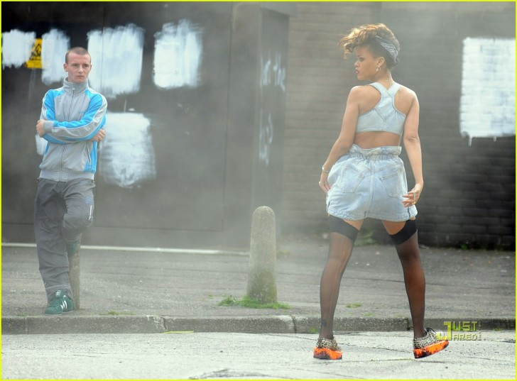Rihanna Causes A Stir On Music Video Set