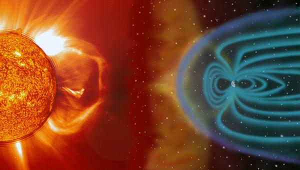 tormenta solar sol tierra campo magnetico