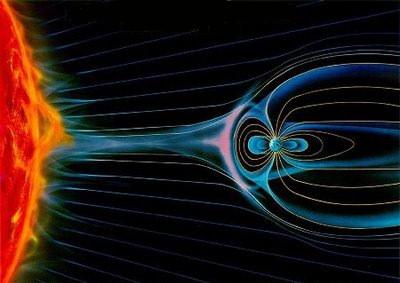 viento solar campo magnetico tierra