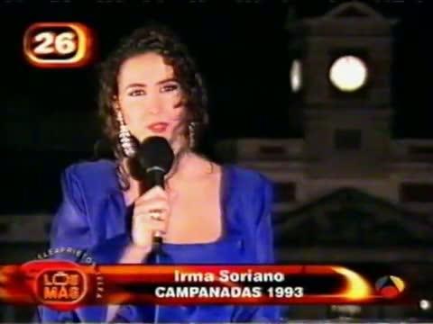 campanadas fin ano irma soriano 1993 1994