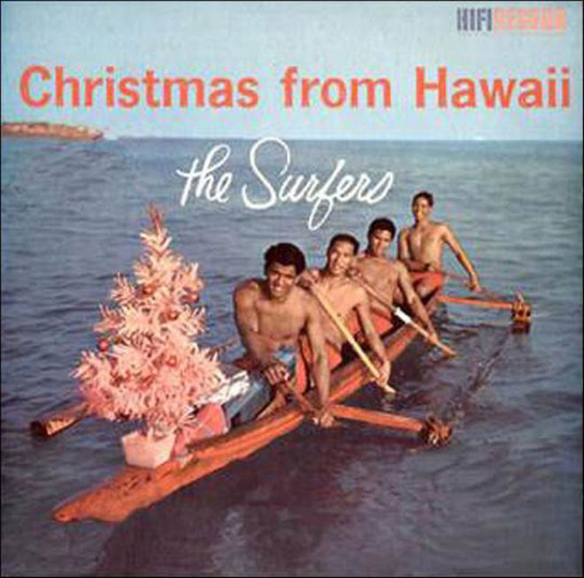 caratulas discos navidad humor The Surfers hawaii