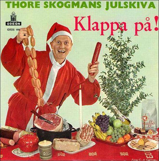 caratulas discos navidad humor Thore Skogman julskiva