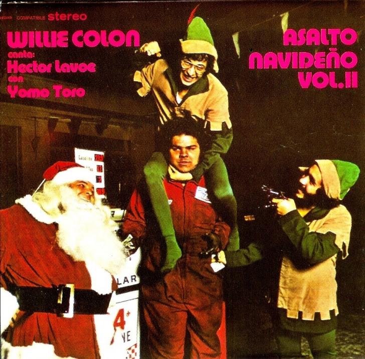 caratulas discos navidad humor willie colon asalto navideno