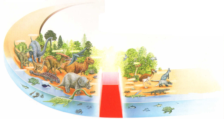 dinosaurios animales Mesozoico Cenozoico