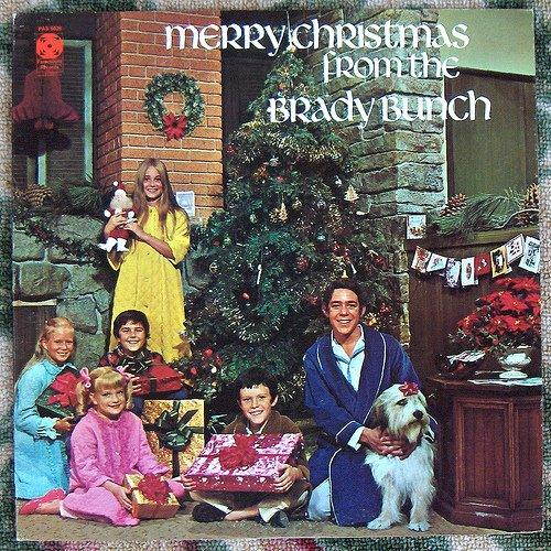discos navidad portadas brady bunch