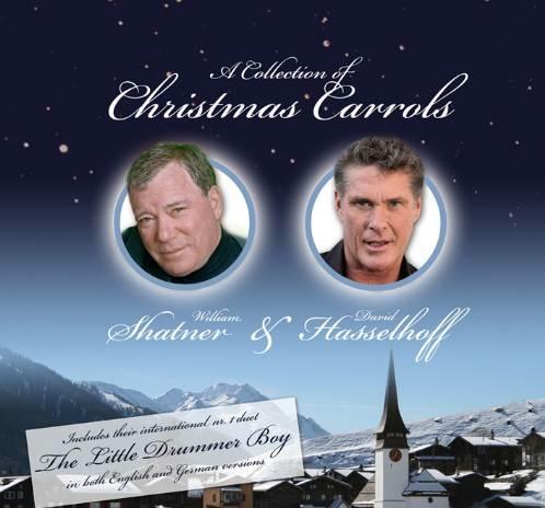 discos navidad portadas carols shatner hasselhoff