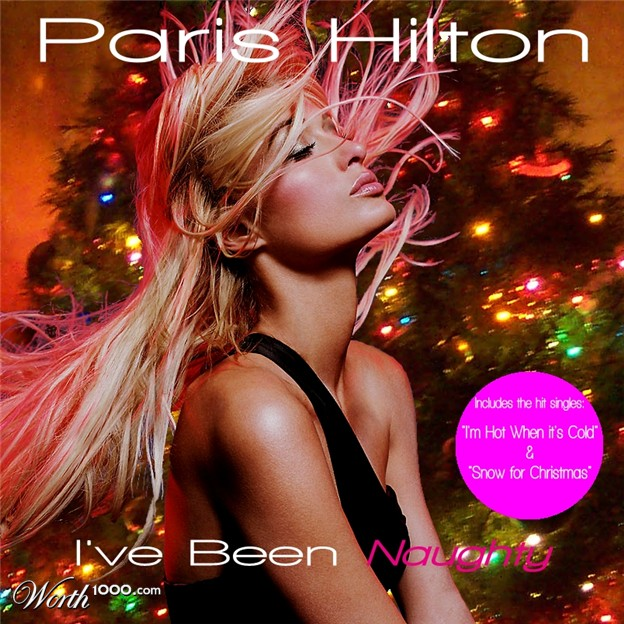 discos navidad portadas paris hilton