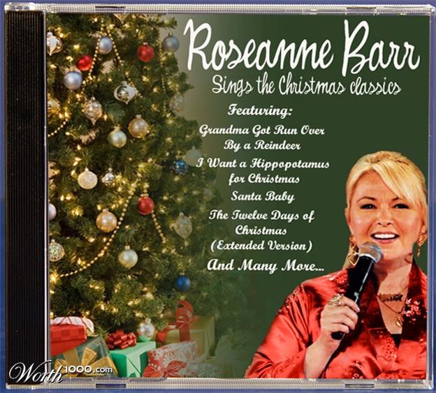 discos navidad portadas roseanne barr