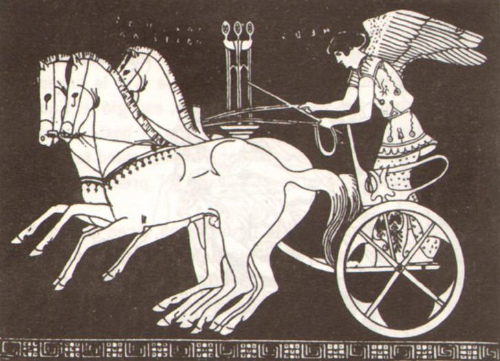 la aurora mitologia carro