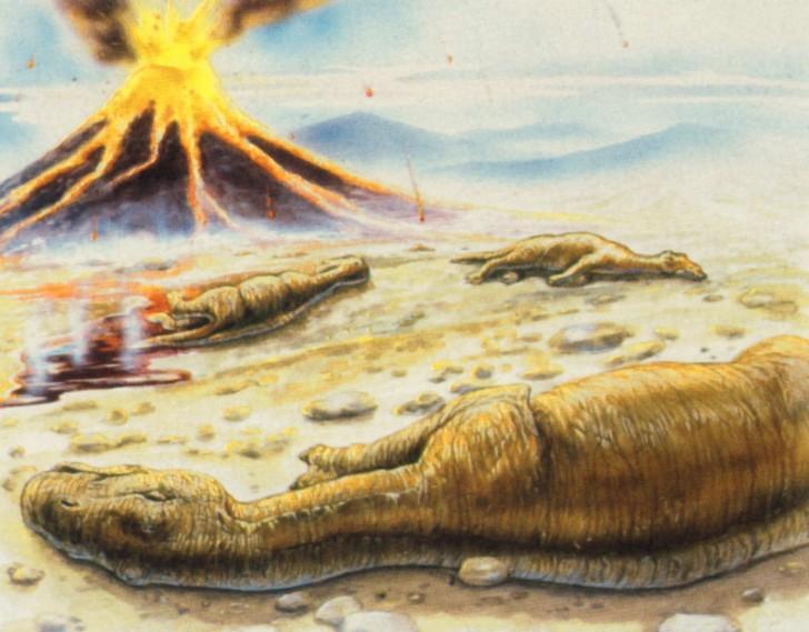 maiasaurios extincion volcan dinosaurios