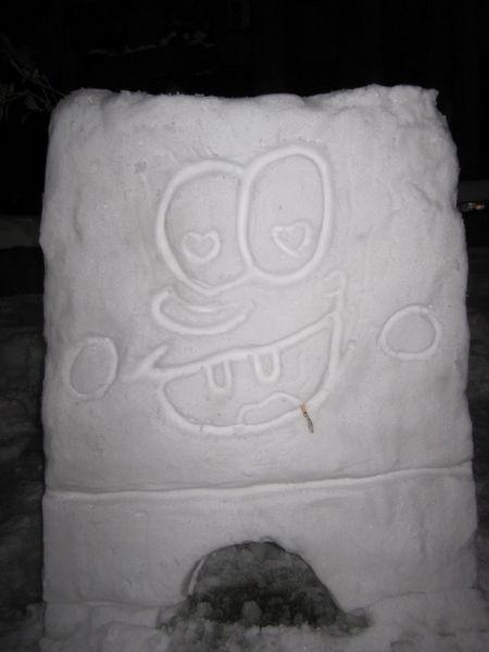 muneco nieve bob esponja