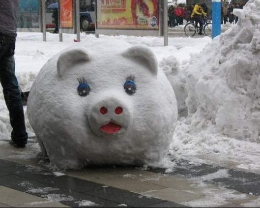 muneco nieve cerdito