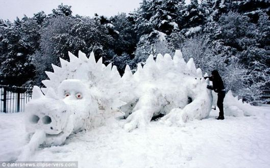 muneco nieve dragon