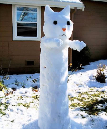 muneco nieve gato