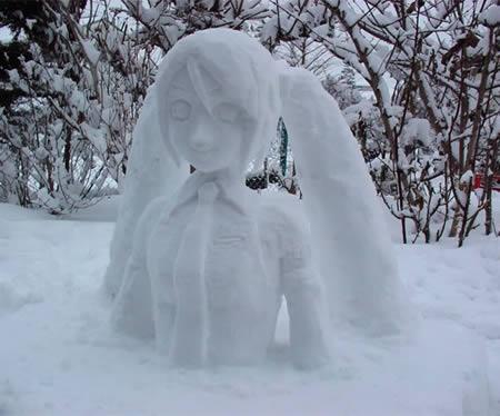 muneco nieve hatsune miku