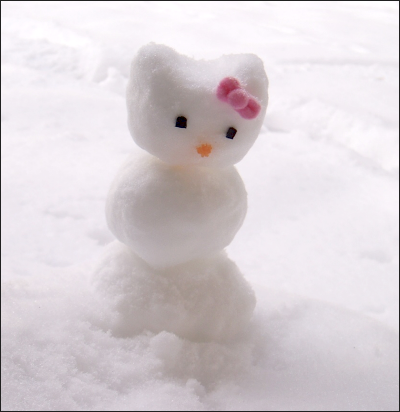 muneco nieve hello kitty