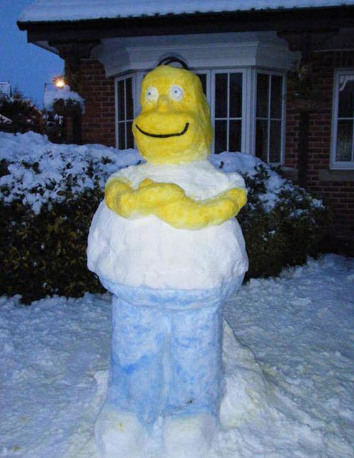 muneco nieve homer
