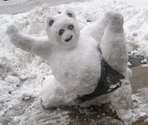 muneco nieve kung fu panda
