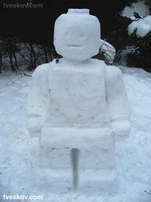 muneco nieve lego