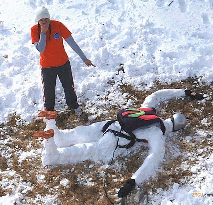 muneco nieve paracaidista